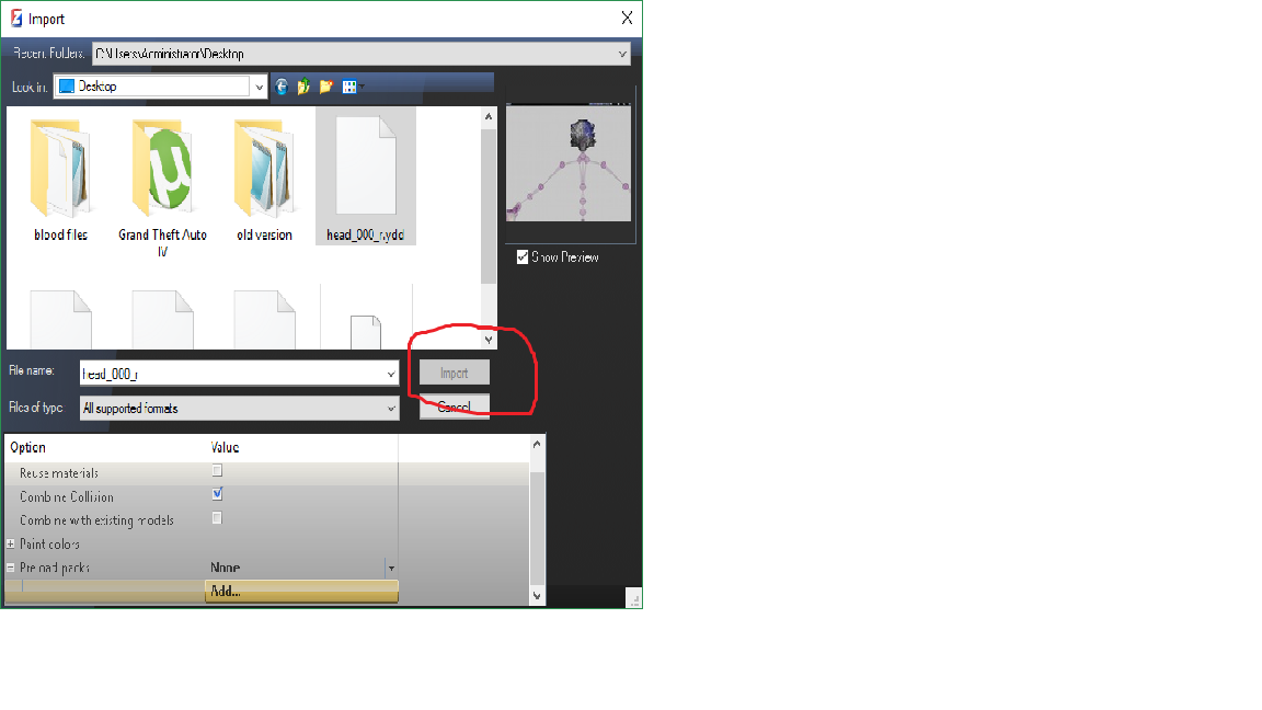 What do i do when i can't import ydd file in zmodeler | GTA5-Mods