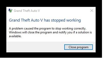 Gta5 has stopped working | GTA5-Mods com Forums